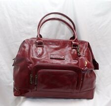 LONGCHAMP Legende Red Bag Patent Leather Handbag Purse Large Doctor Bag $995