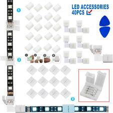 LED Light Strip Connectors Set For SMD 5050 Multicolor LED Strip 12V-24V US