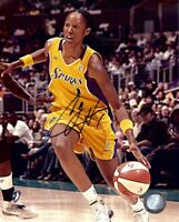 Chamique Holdsclaw Signed Autographed 8X10 Photo Sparks Home Dribbling w/COA