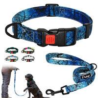 Fashion Tribal Boho Nylon Pet Puppy Dog Collar and Lead set Small Medium Large