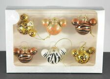 New Disney Parks Animal Kingdom Mickey Ornament set of 6