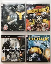 PS3 Game Bundle - Borderlands 2+ Tom Clancy's HAWX + Crysis 2 +Time Shifter (116