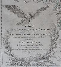 CARTE DE LA LORRAINE ET DU BARROIS, ROBERT, ORIGINALE DE 1756, ROY POLOGNE