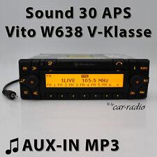 Mercedes Sound 30 Aps Aux-In W638 Navigation System Vito Radio V Class RDS Navi