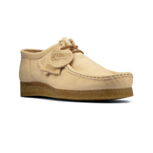 Men's Shoes Clarks Originals WALLABEE Horween Leather Moccasins 60783 NATURAL
