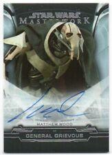 2019 Star Wars Masterwork Autographs Foil Matthew Wood General Grievous Auto /50