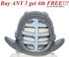 ☀️NEW Lego Boy/Girl Minifig Helmet Ninjago Kendo with White Grille Mask Pattern