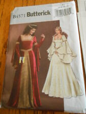 Butterick costume pattern B4571 Midieval Merlin style uncut size AA 6-12