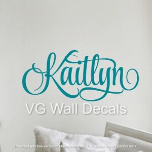 Name Wall Decal Personalized Teen Girl Room Decor Toddler Baby Nursery Sticker