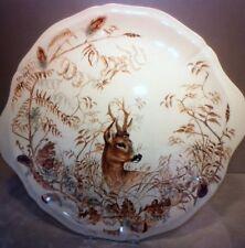 New Eared Cake Platter Tray Doe Deer Sologne Pattern By Gien