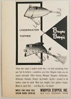 1963 Print Ad Bayou Boogie Fishing Lures Underwater & Topper Sherman,Texas