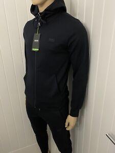 Hugo Boss Tracksuit Hooded Jacket & Pants Mens Black BNWT Size Medium £119