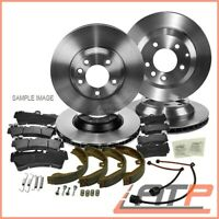 4x BRAKE DISC + HANDBRAKE SHOES + SET PADS FRONT + REAR BMW 3 SERIES E46