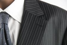 Arzon Nadelstreifen Sakko Gr.58/3XL schwarz 100% Schurwolle Top Zustand