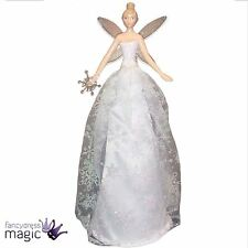 Gisela Graham Iridescent Snowflake Fairy Angel Tree Topper Christmas Decoration