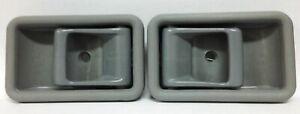 Set of Inside Door Handles Gray Left & Right Mazda Pickup B2000 B2200 B2600