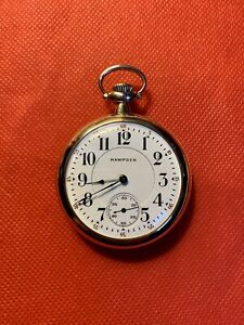 1925 Hampden Grade No. 108, Model 4, 16s, 17j, Pocket Watch in Great Condition