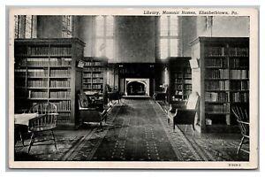 Postcard PA Elizabethtown Pennsylvania Library Masonic Homes c1950s Q26