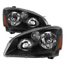 Fit Nissan 05-06 Altima Black Housing Replacement Headlights Pair Set SL S SE