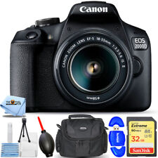 Canon EOS 2000D / Rebel T7 with 18-55mm IS II Lens - Essential 32GB Bundle