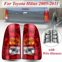 Rear Tail Brake Light Lamp W/ Wire For Toyota Hilux 2WD 4WD Ute Emark 2005-2011