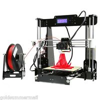 Anet A8 High Accuracy 3D Desktop Printer i3 DIY Kit LCD Screen Black