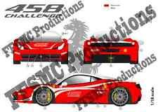 "[FFSMC Productions] Decals 1/18 Ferrari F-458 Challenge ""Présentation"""
