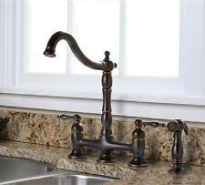 Premier Charlestown Bridge Kitchen Faucet w/ Side Spray Parisian Bronze 110702