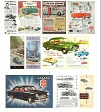 MK1 FORD ZEPHYR CONSUL ZODIAC  ADVERT BROCHURE 10 DIFFERENT FRIDGE MAGNET CARS
