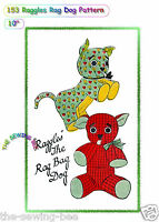 "Stuffed Rag Dog DOLL, Puppy Economy Doll pattern vintage 10"" # 153"