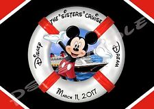 5x7 Disney Cruise CUSTOM Door Magnet - LIFE PRESERVER MICKEY