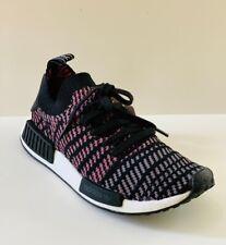 adidas Men's NMD_R1 STLT PK Black/Pink Primeknit ORIGINALS Shoes CQ2386 Sz 6