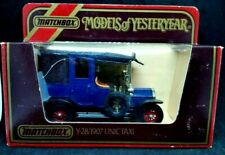 Matchbox 1984 Models of Yesteryear Y28 1907 UNIC Taxi