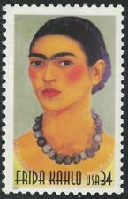 Scott 3509- Frida Kahlo, Artist's Portrait- MNH 34c 2001- unused mint stamp