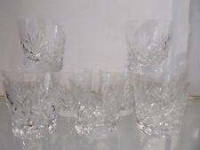 9 gobelets old fashion cristal Saint Louis Massenet (whiskey crystal goblets)