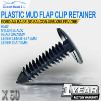 50 Plastic Mud Flap Clips Retainer Fit Ford AU BA BF BG Falcon XR6 XR8 G6E Turbo
