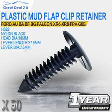 50 Plastic Mud Flap Clips Retainer Fit Ford AU BA BF BG Falcon XR6 XR8 G6E Turbo