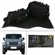 Tailgate Cover Storage Organizer Bag Cargo Detachable for Jeep Wrangler JK 07~18
