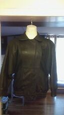 (Tibor) Black Quality Leather Jacket Waist Length Size Small