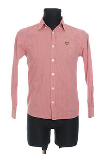 Lyle&Scott Men's Red checked long sleeved Casual Shirt Size Small
