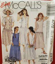 McCall's Fashion Basics pattern 4772 Misses'/Petite Sundress sz 14, 16, 18 uncut