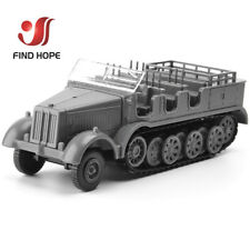 1:72 German Sd.Kfz.7 Half-Track Military Vehicle Assembly Model+10 Soldier Model