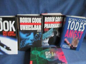 Robin Cook - 5 Bücher - Medizin Thriller - Romane - HC + TB Konvolut