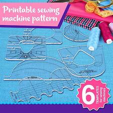 6pcs Transparent Quilting Supplies Sewing Patchwork Ruler Cutting Craft Tool DIY