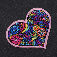 Heart Love Patches Liana Embroidered Sewing Fabric Iron on Clothes Decor Craft
