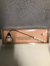 Vintage 1998 Boston Warehouse Candle Flame Snuffer Christmas Holiday Snowman NIB