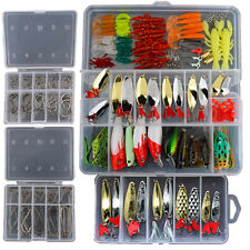 226 Fishing Lures Spinners Set Spoons Crank Baits Frogs Pike Trout Bass Salmon