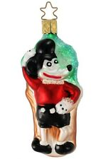 Inge Glas  Master Mouse 1-573-01 German Glass Christmas Ornament