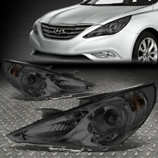 For 11-14 Sonata Pair Smoked Housing Clear Corner Projector Headlight Head Lamps