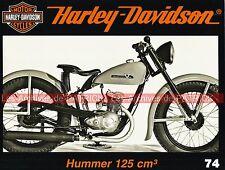 HARLEY DAVIDSON Hummer 125 ; Records HD ; Captain America Easy Rider ; MOTO